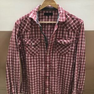 Diesel Plaid Button Up Shirt
